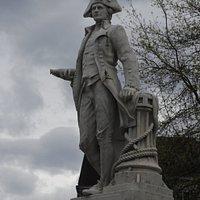 Captain James Cook Statue - up close