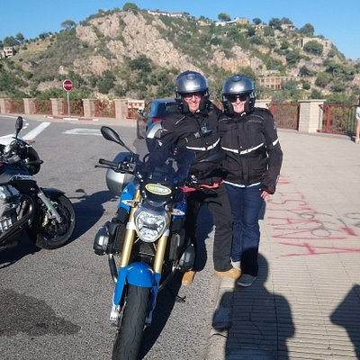 On the Costa Brava Cliff Ride with Motorcycle Detours