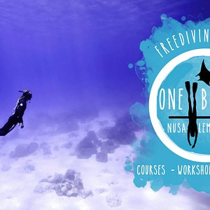 Freediving in the bay of Nusa Lembongan with One Breath