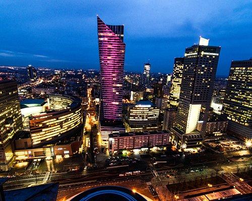 Varsovie, du haut du Palais de la Culture, Blue Hour, Mars 2017.