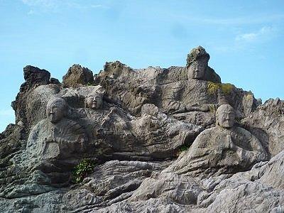 十六羅漢岩 岩仏