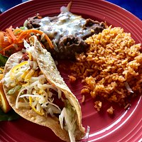 Beef taco lunch special - very tasty!