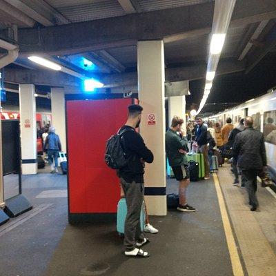 Service from London city on platform