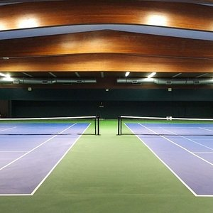 Great indoor courts with an amazing view too