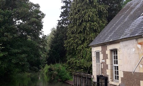 The water course that runs the mill whee (that is the mill house)