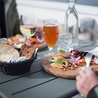 Enjoy our meals with a glass of wine or local draft beer