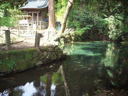 塩井神社と水源。