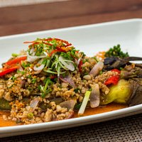 Grilled Eggplant with Minced Pork Sauce