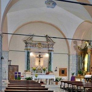 La chiesa prima del terremoto