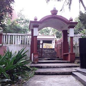 Advaita Bramha Ashram steps to the main temple