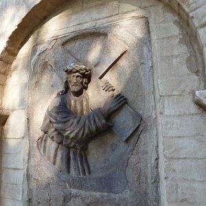 Seitenansicht von St. Matthias.