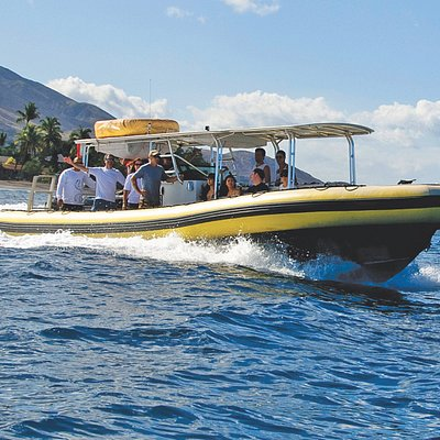 37 feet custom built hard bottom inflatable with 300hp twin engines.