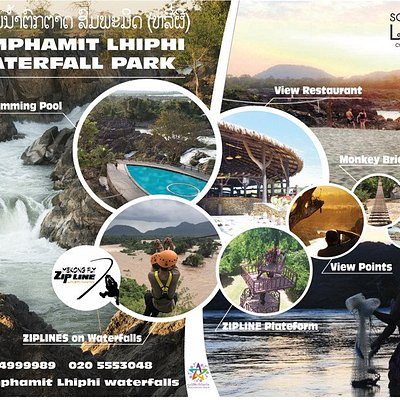 Somphamit Lhiphi Waterfalls Park - Mekong Fly Adventures -Zipline for an unique experience