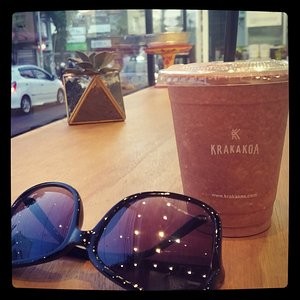 Very enjoy to drink delicious hot chocolate at krakakoa seminyak