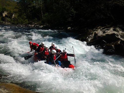 Rafting sul torrente Lima a Bagni di Lucca