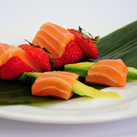 strawberries and salmon