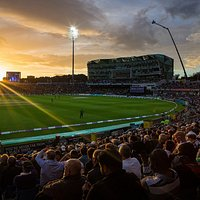 The sun sets on another thrilling ODI at Emerald Headingley.
