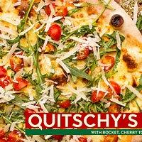 Quitschy's Pizza, Mozzarella, Cherry Tomato e Rocket