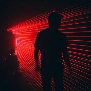 Андрей и лазерная инсталляция 404.zero 'No time. No future. I'm here. RIP'