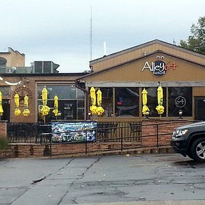 entrance to rear patio at Alley 64