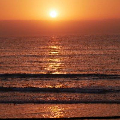 Was für ein Sonnenuntergang!