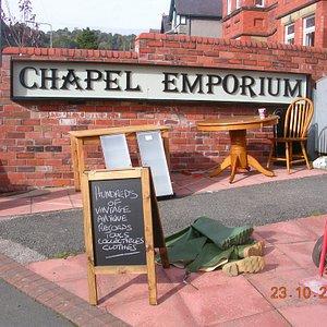 Forecourt of Chapel Emporium Second-Hand Shop
