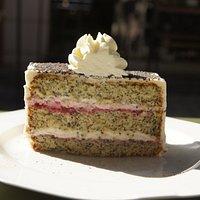 Torta amapolas frambuesa