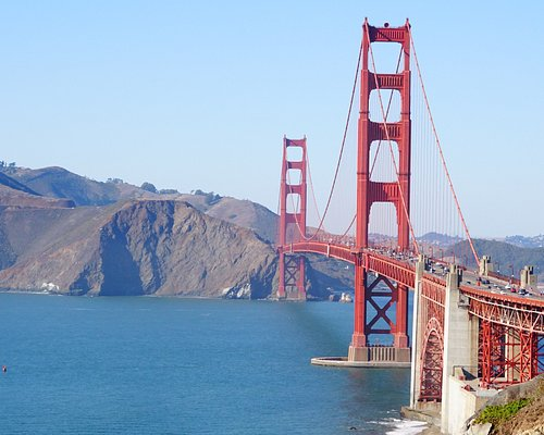 Vista da ponte Golden Gate a partir da Battery Chamberlin