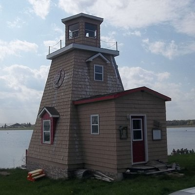 Cocagne Lighthouse at the Tims Fresh Fish Market