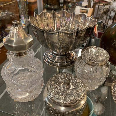 Crystal and Sterling Silver at McMinnville Antiques Mall