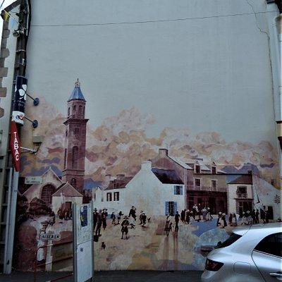 La fresque sur le mur