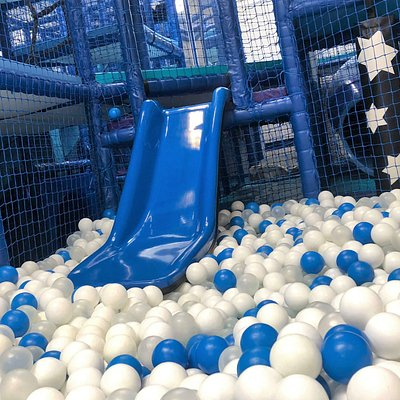 the Under 5s slide and ball pit!
