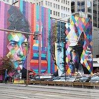 Bob Dylan Mural, Minneapolis, MN, Sep 2018