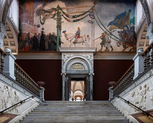 The upper staircase at Nationalmuseum. Photo: Nationalmuseum/Bruno Ehrs.