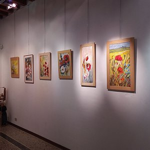 Bellissimi quadri con particolare tecnica pittorica materica artista Annamaria Contessi
