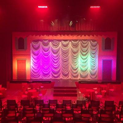 The set of Redhouse's past production, La Cage aux Folles.