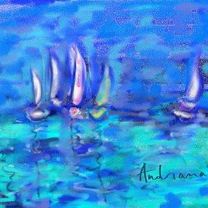 sailing Freo way by Andriana Treasure international artist