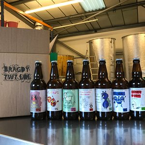 Bottles of beer available from Bragdy Twt Lol // The Trefforest Brewery
