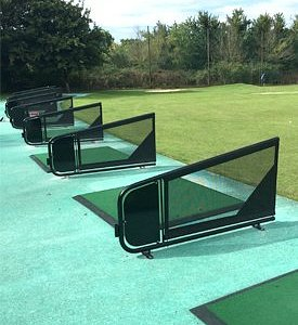 Outside teaching area at Bristol Golf Centre