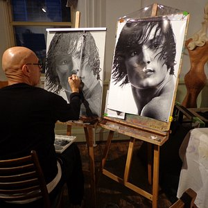 Painting Portraiture in the class