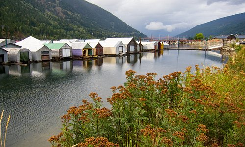 Boathouses on Kootenay Lake, Nelson, BC
