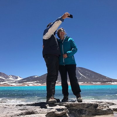 A great selfie in a great place. #LagunaVerde - #Atacama
