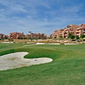 16th Hole at the Mar Menor Golf Resort with The Residences in the background.