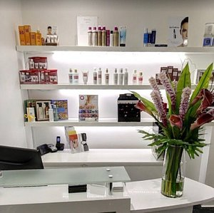 Reception area at our Queens Road salon