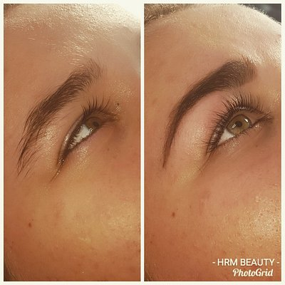Lash lift tint and combo brow
