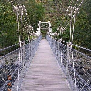 The Chain Bridge (Hotel side) looking towards Berwyn Railway Station.