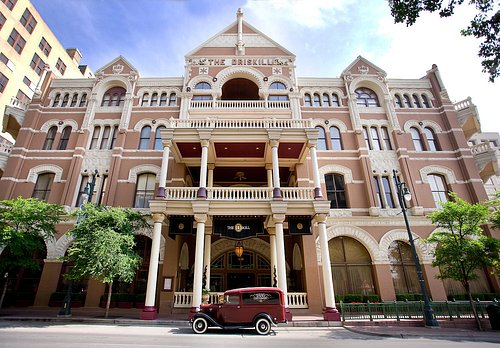 The historic Driskill hotel in downtown Austin, TX.