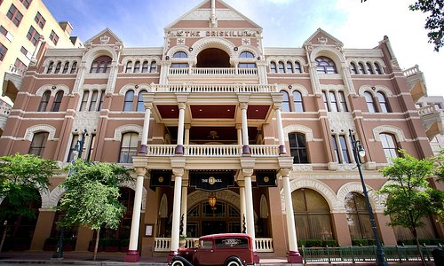 The historic Driskill hotel in downtown Austin, TX.