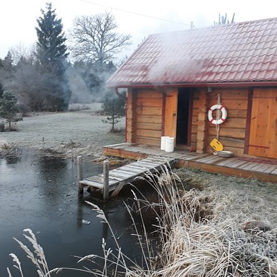 heating sauna in winter