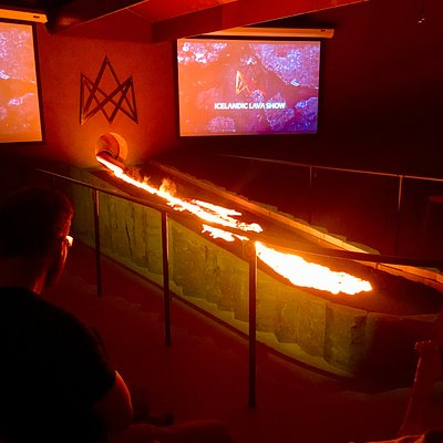 The highlight of the show is when we pour molten lava into the showroom - an epic experience